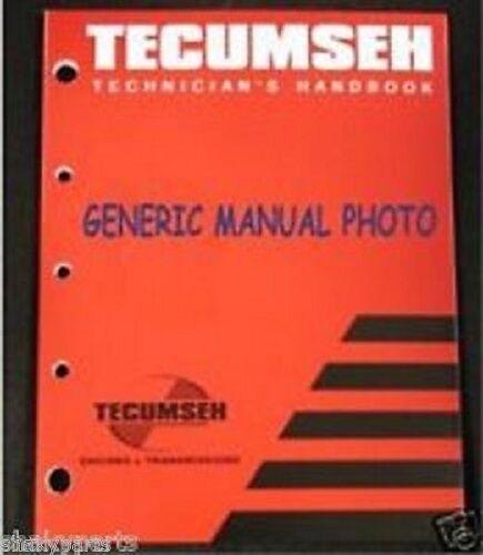 Pleasant Tecumseh 3 10Hp 4 Cycle Engines Mechanics Handbook Manual 1988 For Wiring Cloud Loplapiotaidewilluminateatxorg