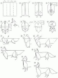 Fox - Evan Zodl | Origami, Origami easy, Wolf book | 313x236