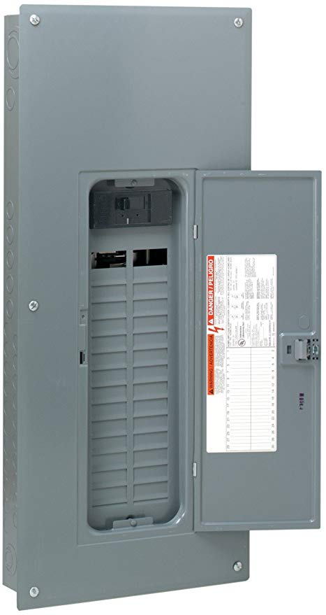 Square D by Schneider Electric HOM3060M150PRB Homeline 150 Amp 30-Space 60-Circuit Outdoor Main Breaker Load Center , Plug-on Neutral Ready