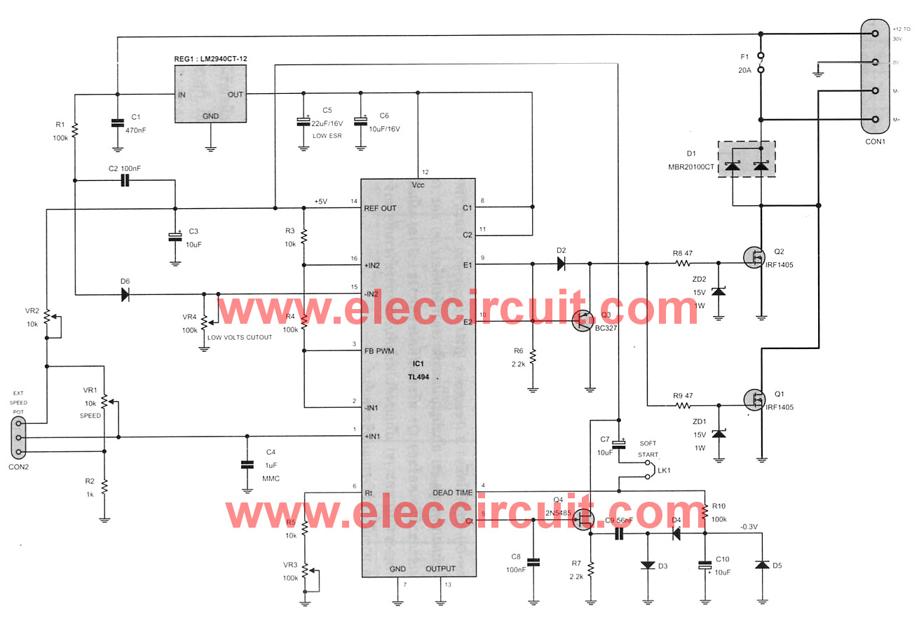 Prime 12V 24V Pwm Motor Controller Circuit Using Tl494 Irf1405 Wiring Cloud Dulfrecoveryedborg