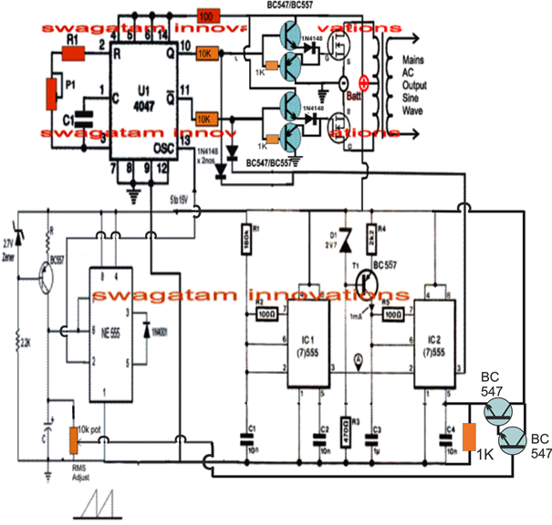 Enjoyable A Very Effective Pure Sine Wave Inverter Circuit Can Be Made Using Wiring Cloud Hisonepsysticxongrecoveryedborg