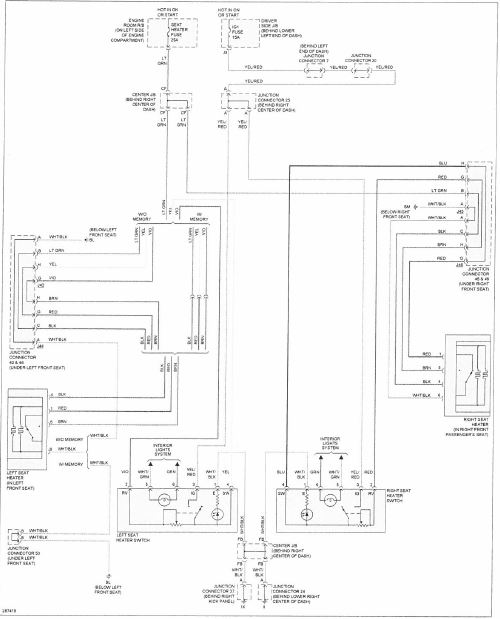 Seat Heater Wiring Diagram