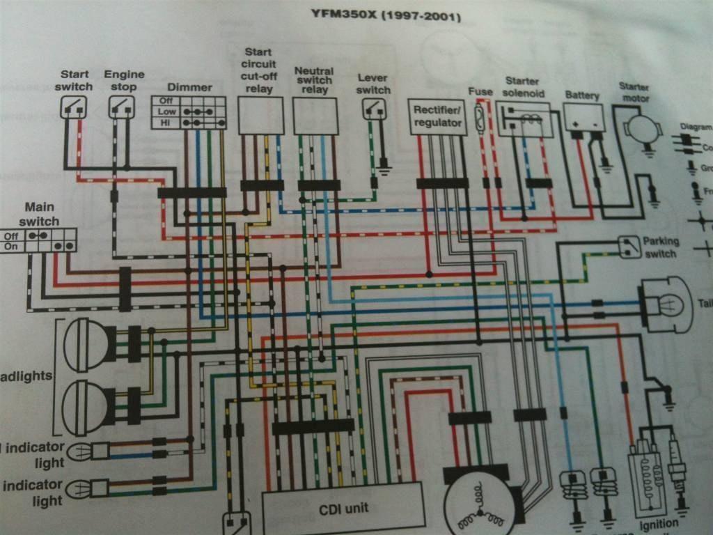 Ka 4621  1988 Yamaha Warrior Wiring Diagram Schematic Wiring