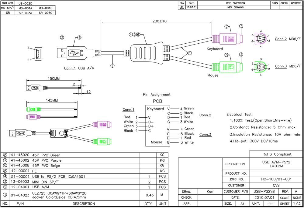 Usb To Ps2 Keyboard Wiring Diagram