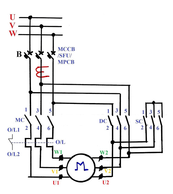 yx7443 motor contactor wiring diagram also star delta