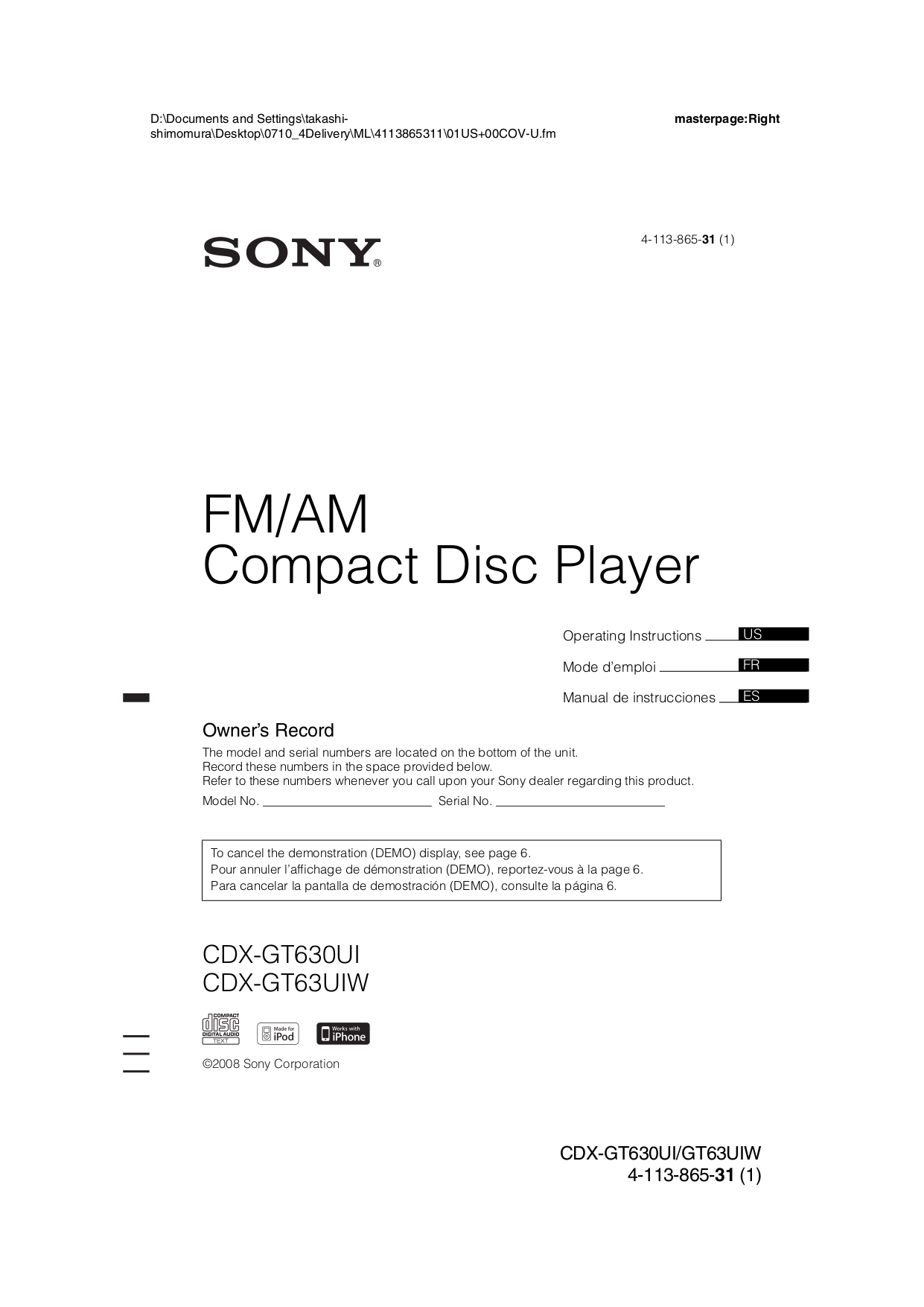 Stupendous Download Free Pdf For Sony Xplod Cdx Gt630Ui Car Receiver Manual Wiring Cloud Xortanetembamohammedshrineorg