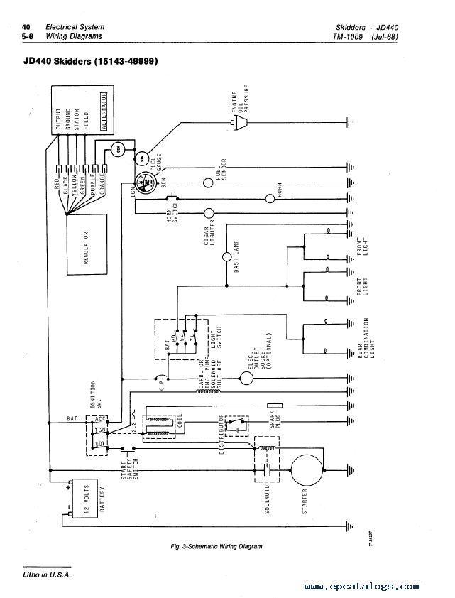 john deere model 40 wiring diagram  wiring diagram for walk