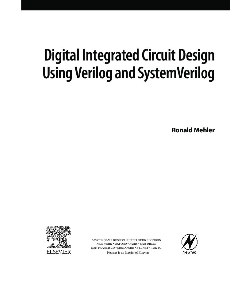 Gx 3774 Digital Integrated Circuit Design Using Verilog And Systemverilog Free Diagram