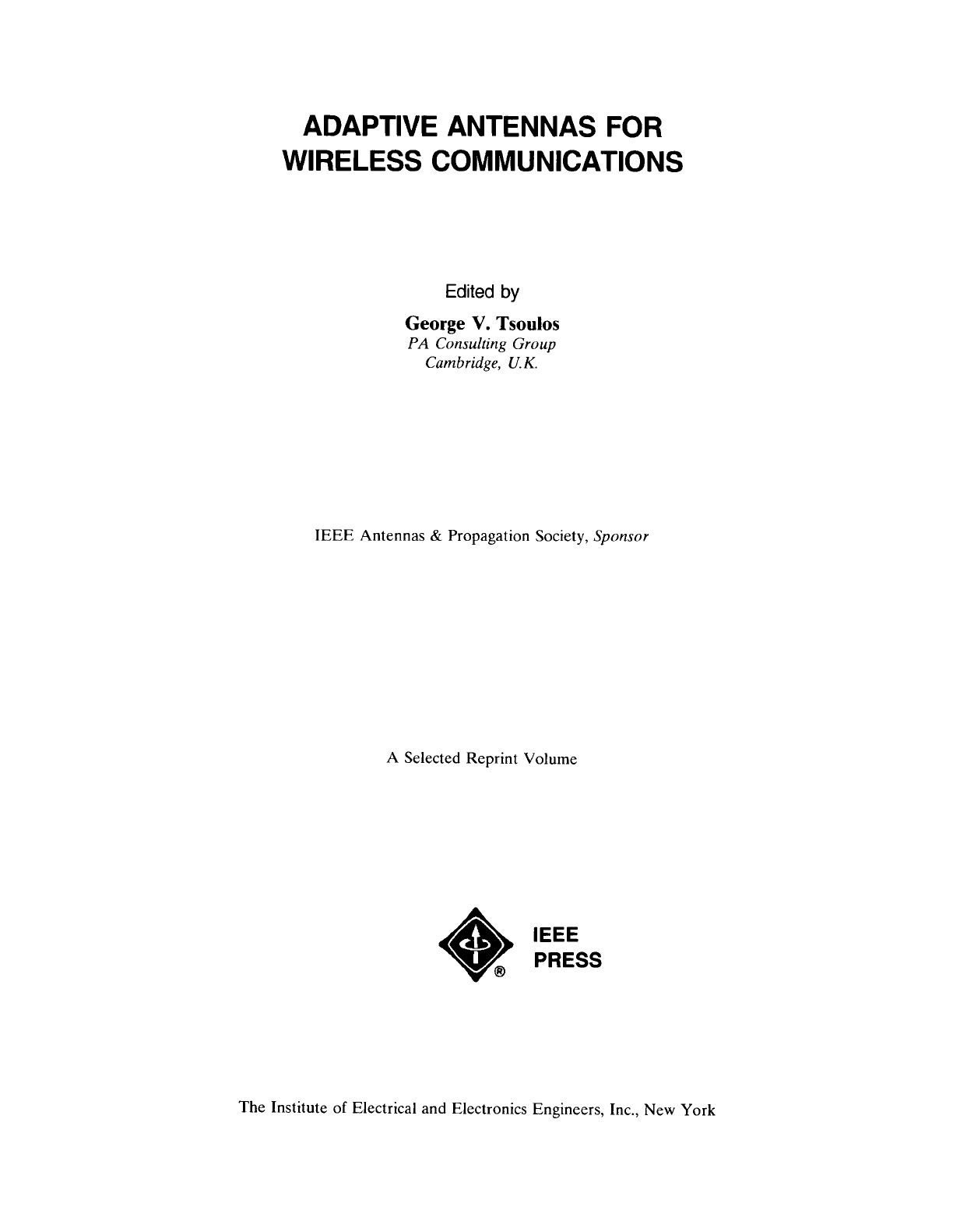 Sensational George V Tsoulos Adaptive Antennas For Wireless Bookzz Org Pdf Wiring Cloud Cranvenetmohammedshrineorg