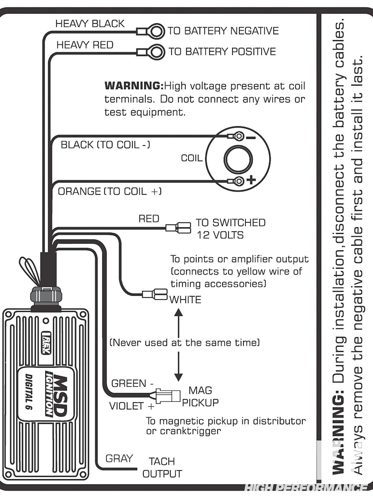 Msd Ignition Digital 6al Wiring Diagram - Wiring Diagram