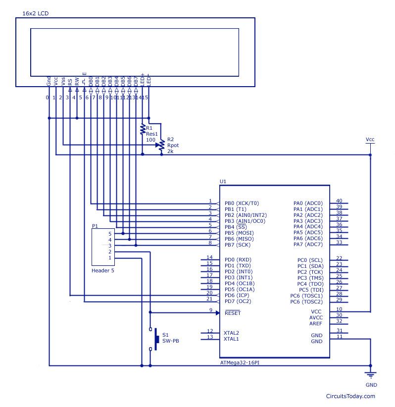 atmega8 circuit diagram oz 4698  lcd interfacing with avr electronic circuits and diagram  oz 4698  lcd interfacing with avr