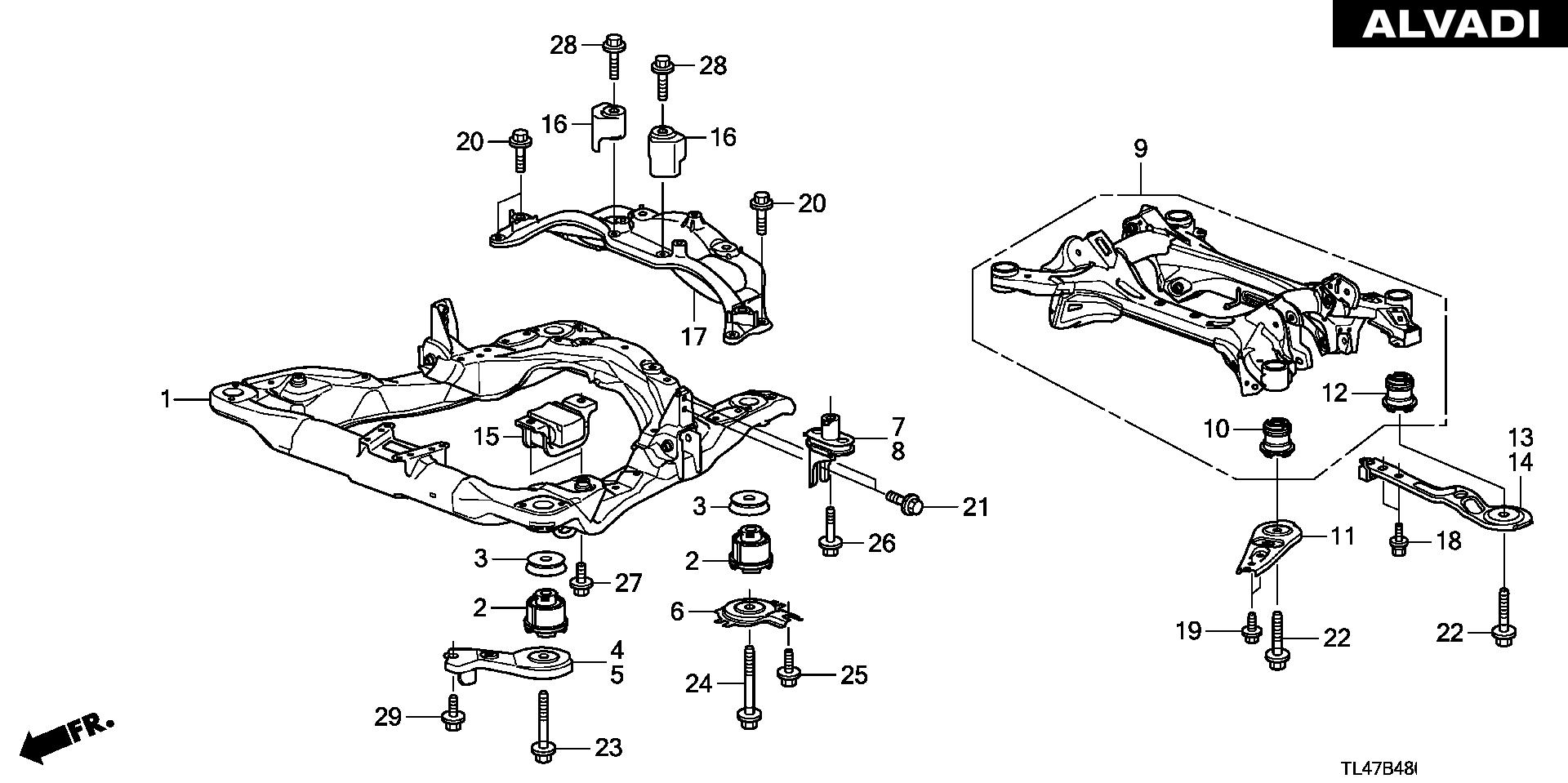 Mk 8111  Honda Accord Frame Diagram Wiring Diagram