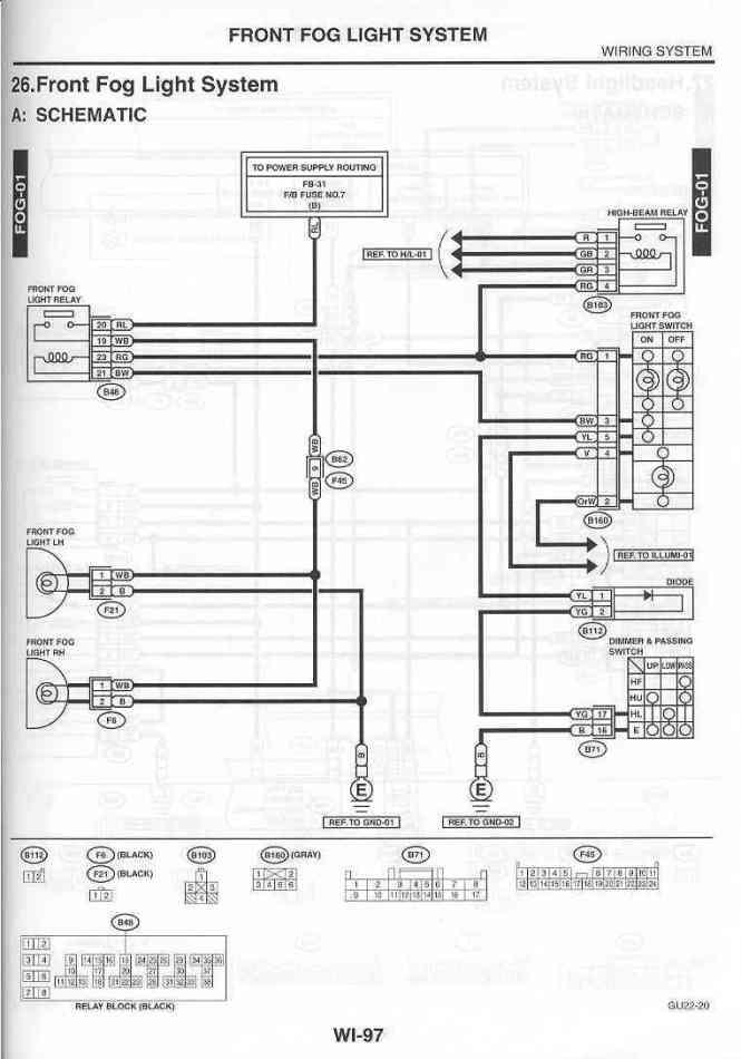 Ex 2350  Subaru Fog Lights Wiring Diagram Download Diagram