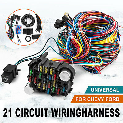 Prime 21 Circuit Wiring Harness Chevy Mopar Ford Hot Rods Universal Wire Wiring Cloud Cranvenetmohammedshrineorg