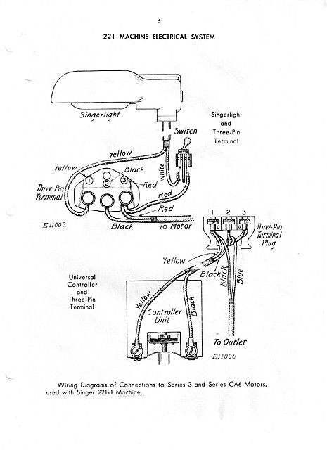 Singer Sewing Machine Wiring Diagram