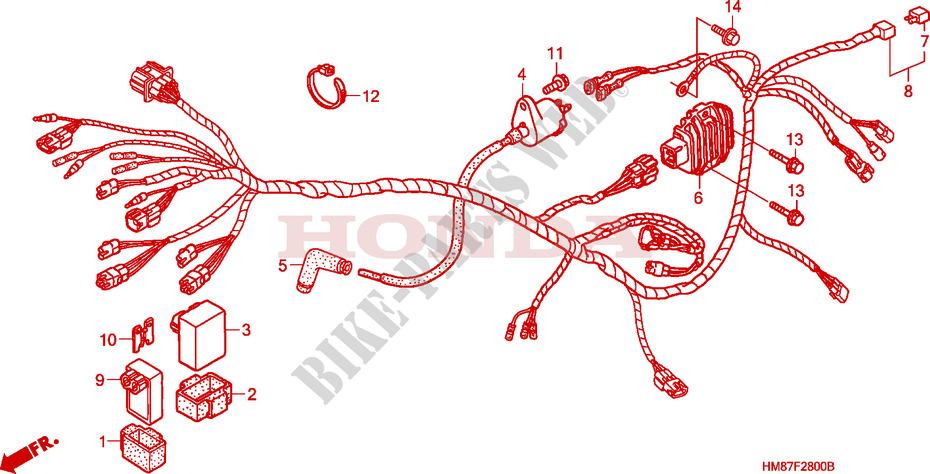 Sensational Wire Harness Trx250Tm Frame Trx250Tm9 2009 Fourtrax 250 Atv Honda Wiring Cloud Licukshollocom