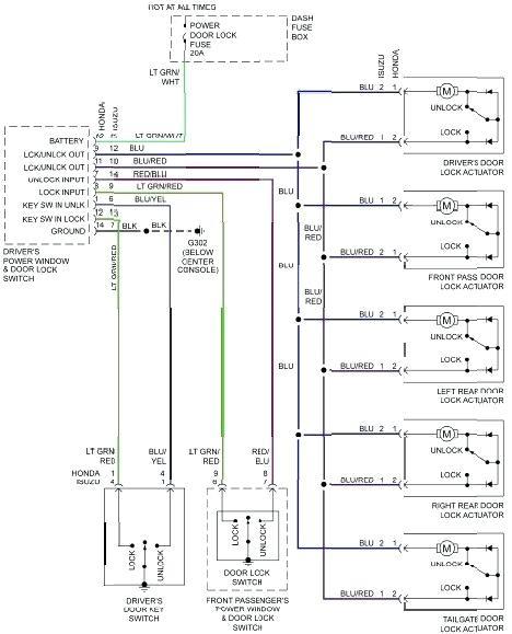 db9604 power door lock wiring diagram on central door lock