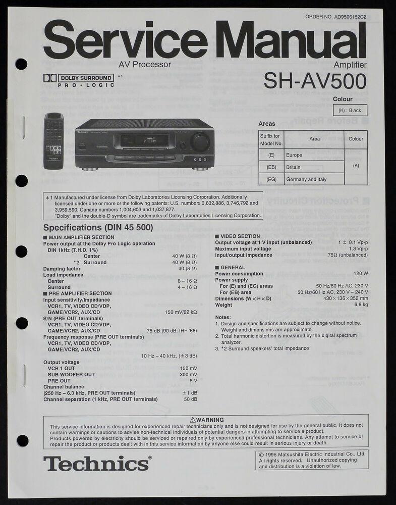 Tremendous Technics Sh Av500 Original Amplifier Service Manual Diagram Parts Wiring Cloud Histehirlexornumapkesianilluminateatxorg