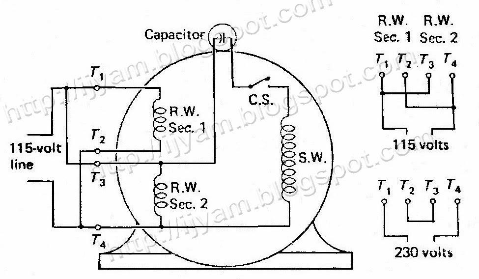 Astounding Wiring Diagram Ac Single Phase Capacitor Start Motor Wiring Hayward Wiring Cloud Filiciilluminateatxorg
