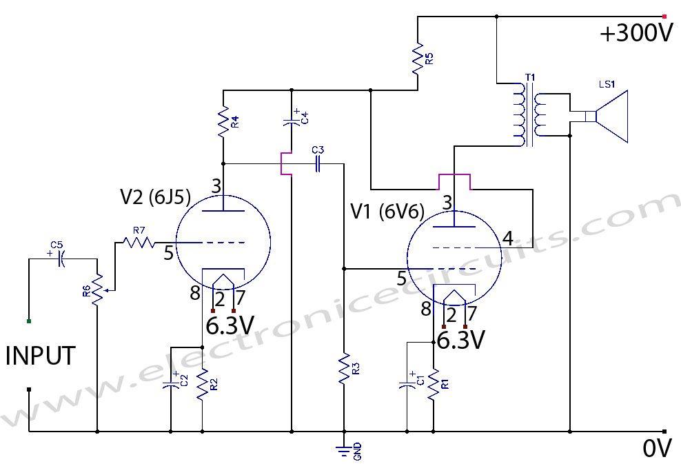 Wondrous Vacuum Tube Schematic Diagram Basic Electronics Wiring Diagram Wiring Cloud Icalpermsplehendilmohammedshrineorg