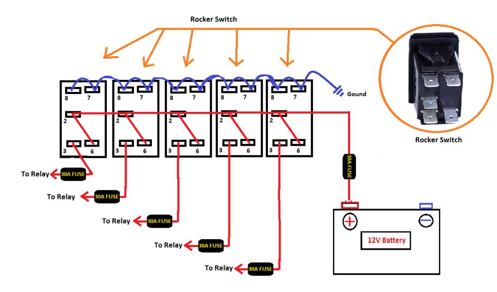 Awe Inspiring Dual 12V Toggle Switch Wiring Diagram General Wiring Diagram Data Wiring Cloud Biosomenaidewilluminateatxorg