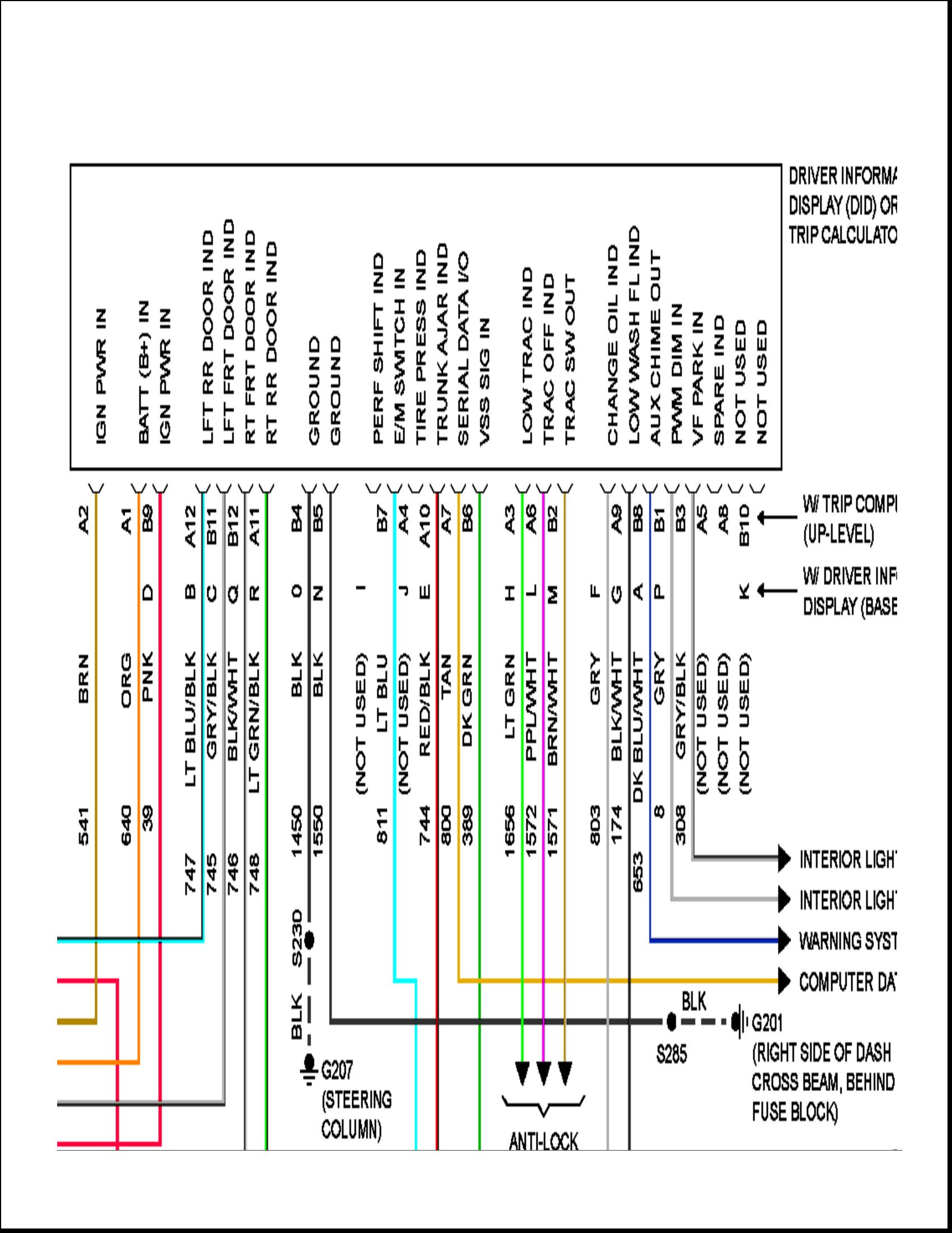 2003 Grand Am Monsoon Wiring Diagram