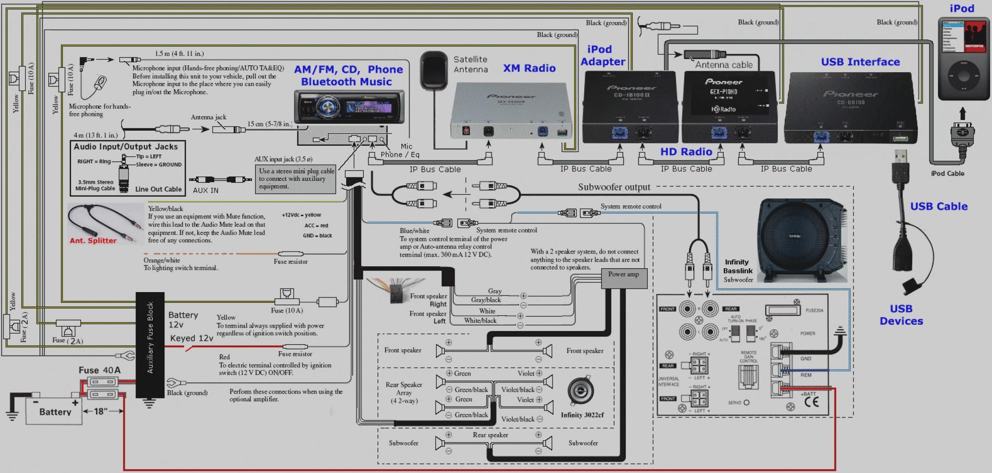 Pioneer Premier Deh 36 Wiring Diagram