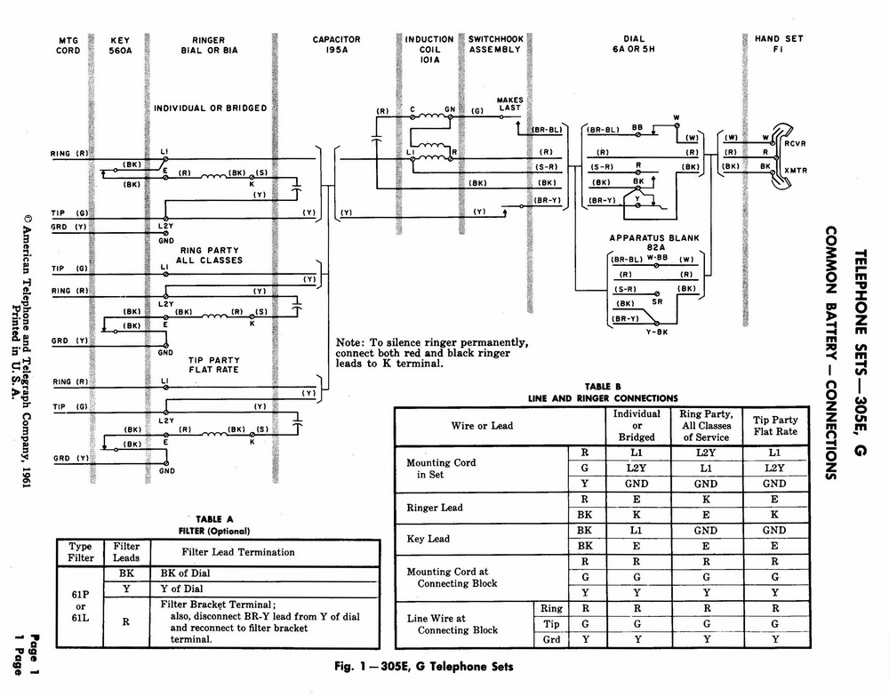 Vz 1223 Kellogg Telephone Wiring Diagram Schematic Wiring