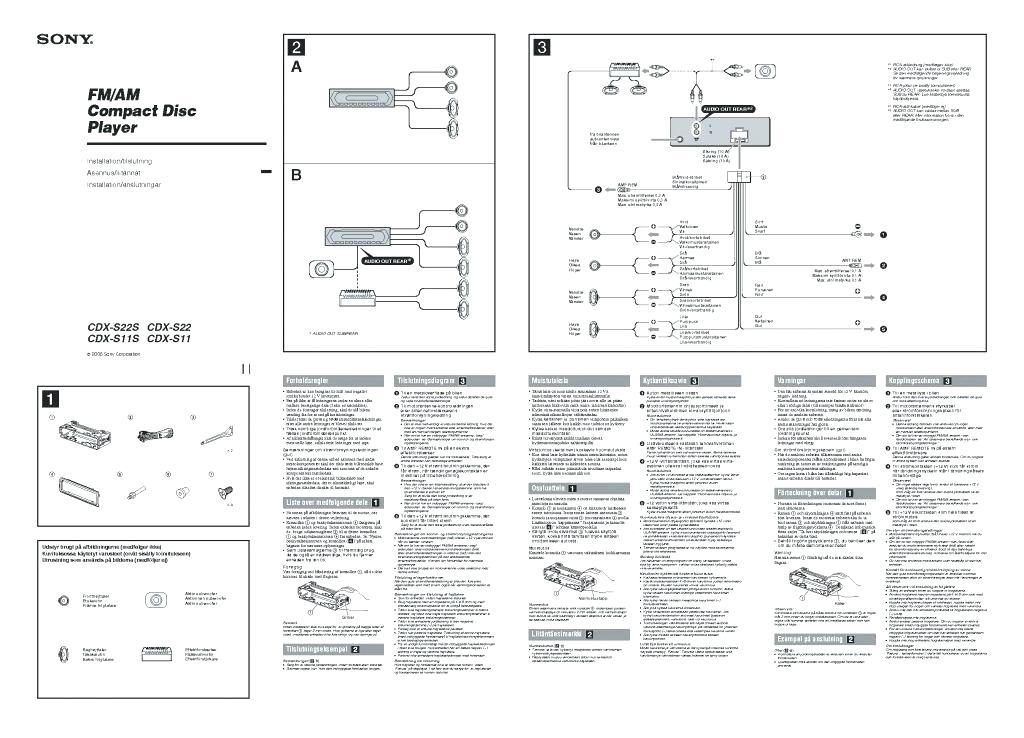 Sony Cdx Ca400 Wiring Diagram
