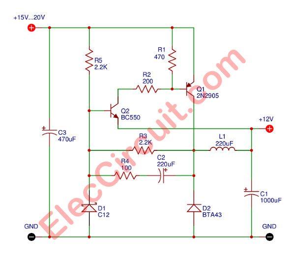 Fine Simple 12V Transistor Switching Power Supply Elec Circuit Wiring Cloud Rdonaheevemohammedshrineorg