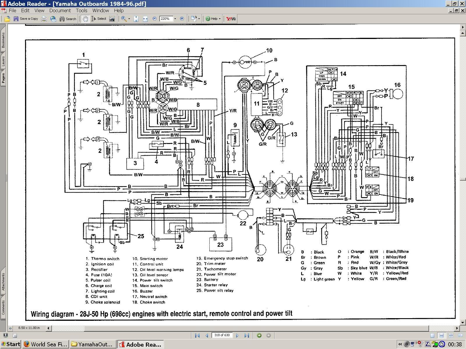 Va 0696 Yamaha Outboards Wiring Diagrams Free Download