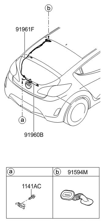 Kb 7572  Hyundai Tail Light Wiring Harness Schematic Wiring