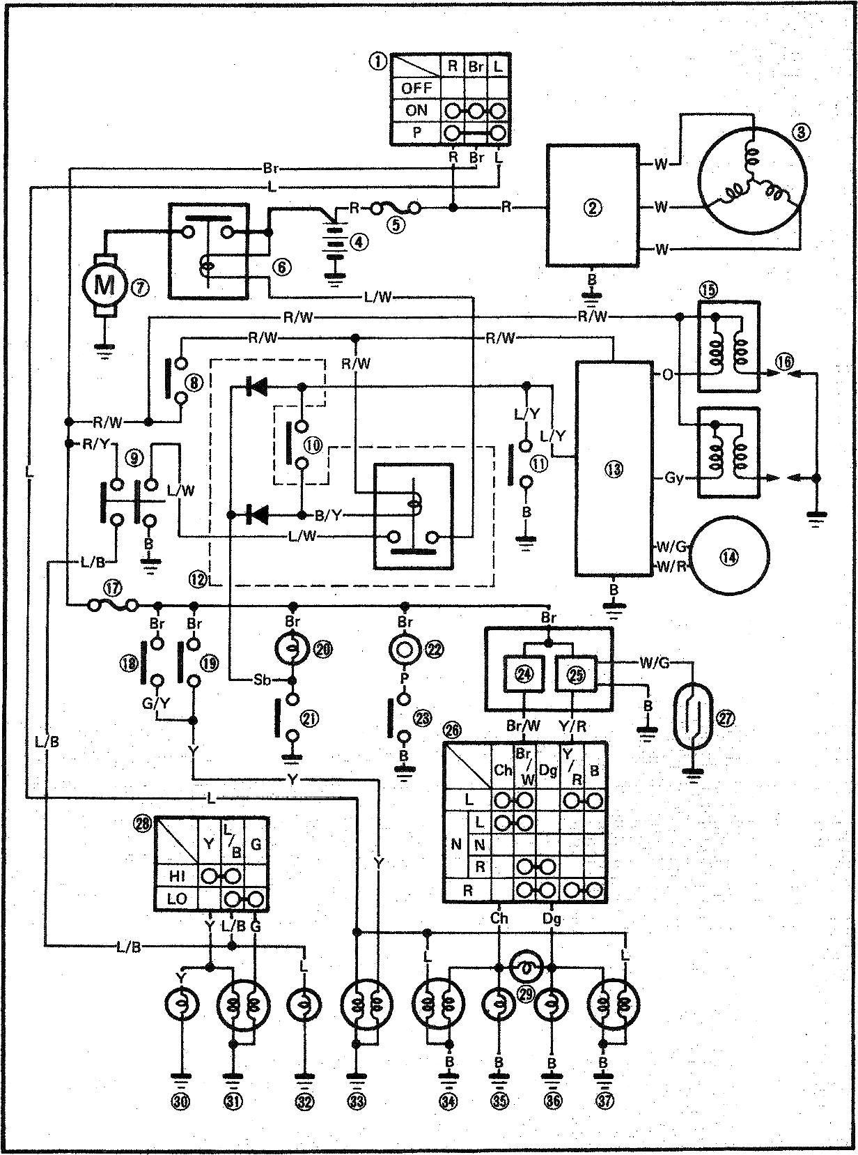 1996 Yamaha Virago 535 Wiring Diagram