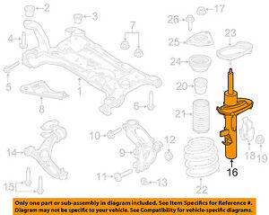 FORD OEM Lower Control Arm-Front-Rear Arm BE5Z3078B