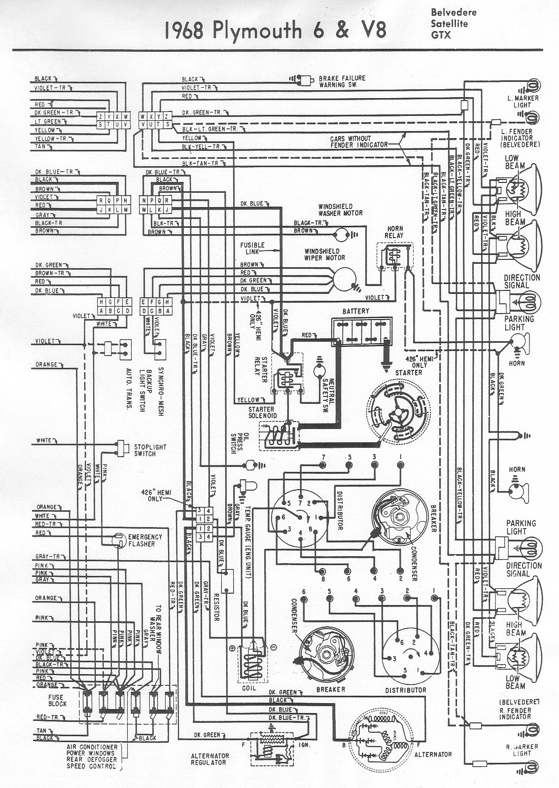 1968 Dodge Dart Wiring Diagram Pictures