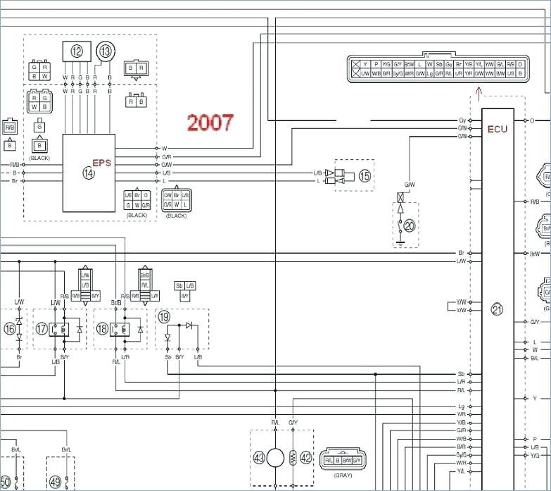 2008 Yamaha Grizzly 350 Wiring Diagram