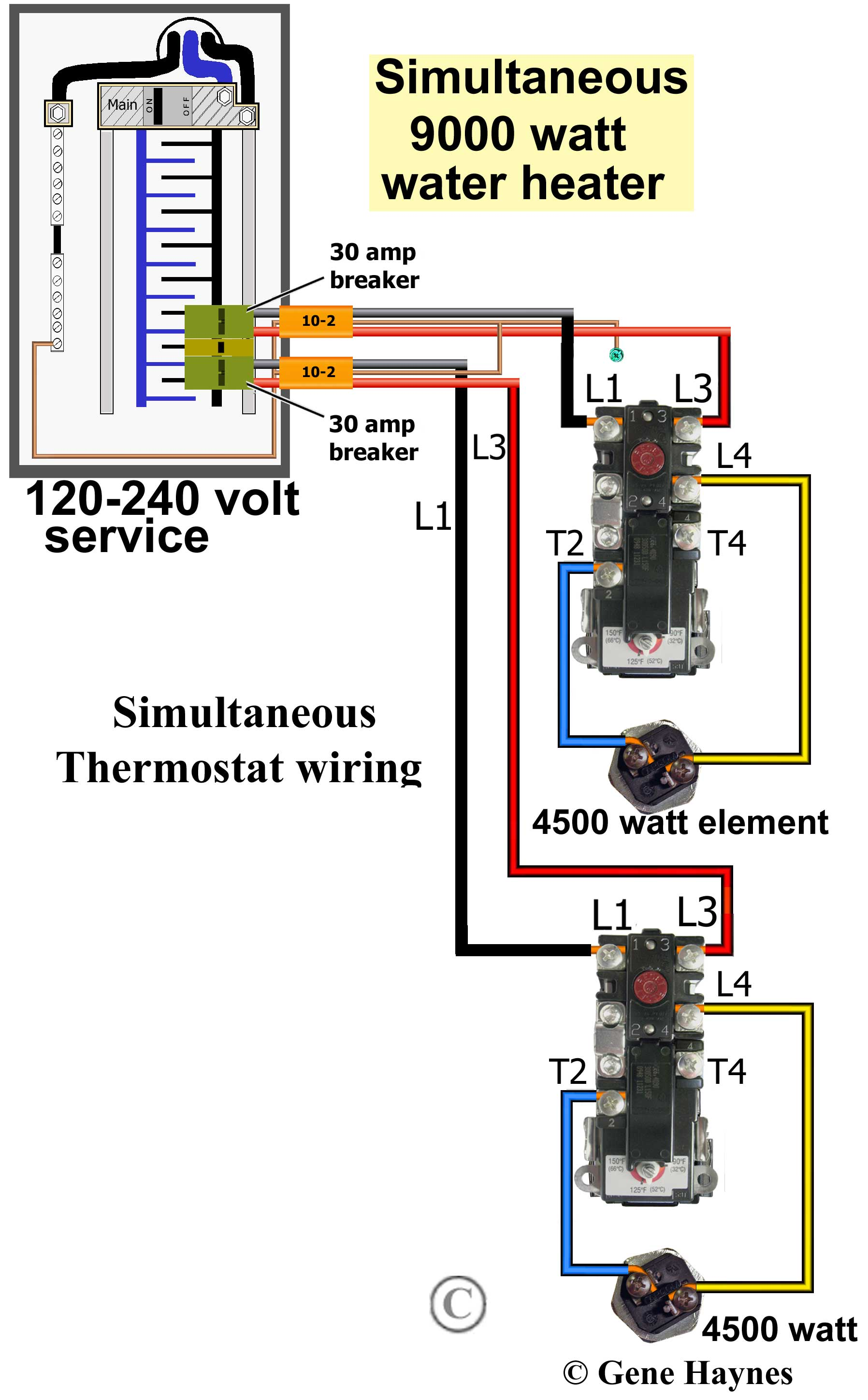 Ss 8833 Water Heater Wiring Simultaneous Operation Wiring Diagram
