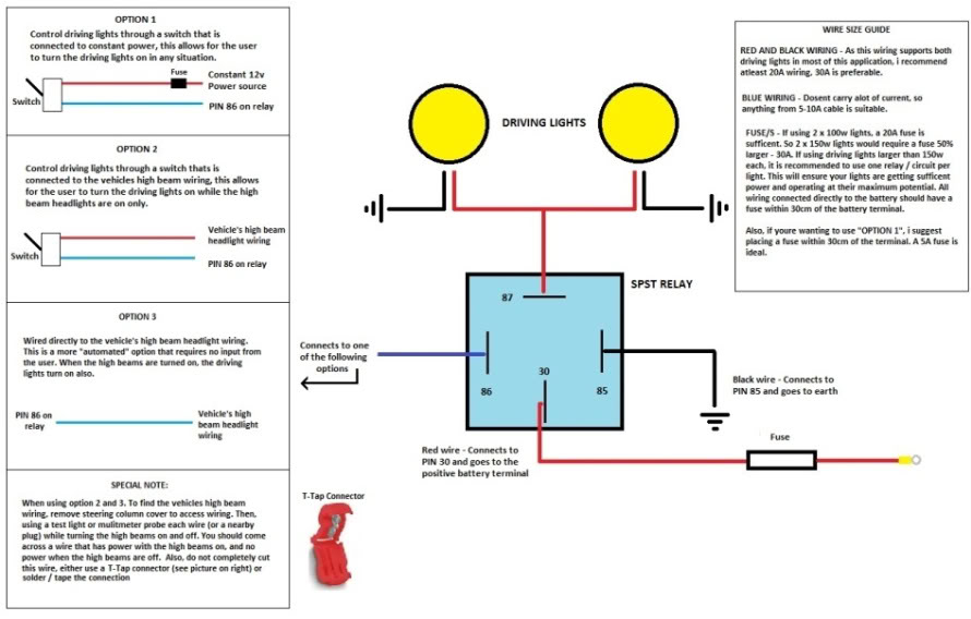 Phenomenal Wiring Diagram Also Driving Lights Relay Switch Wiring Diagram Wiring Cloud Overrenstrafr09Org
