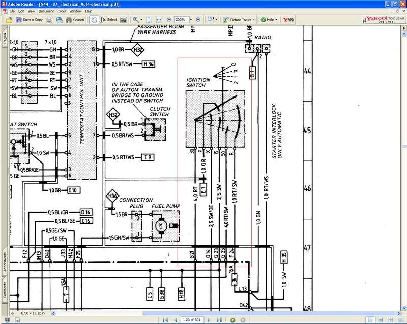 porsche 944 radio wiring diagram xl 7754  porsche 944 wiring diagram  xl 7754  porsche 944 wiring diagram