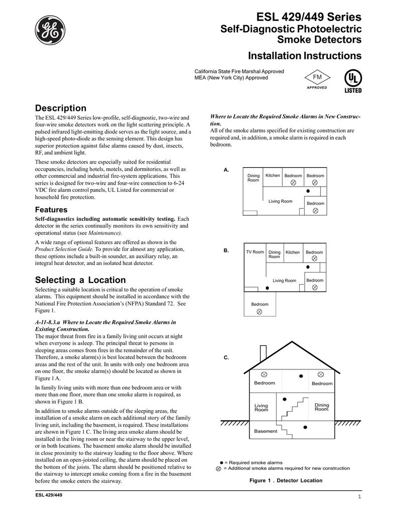 Bx 8735  Esl Smoke Detector Wiring Diagram Get Free Image About Wiring Download Diagram