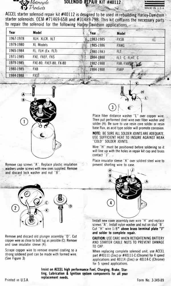 1980 Fxef Shovelhead Wiring Diagram