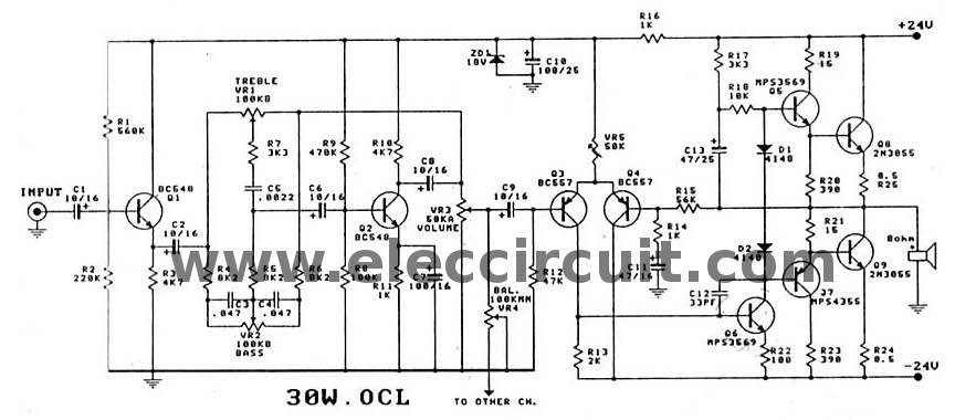 Swell 2N3055 Amplifier Circuit Diagram 30W Ocl Integrated Pcb Wiring Cloud Onicaxeromohammedshrineorg