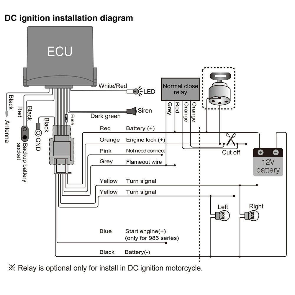 Yamaha Motorcycle Alarm Wiring Diagram