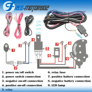 Cool Reviews Universal Led Light Bar Fog Light Wiring Harness Kit 40A Wiring Cloud Hemtegremohammedshrineorg