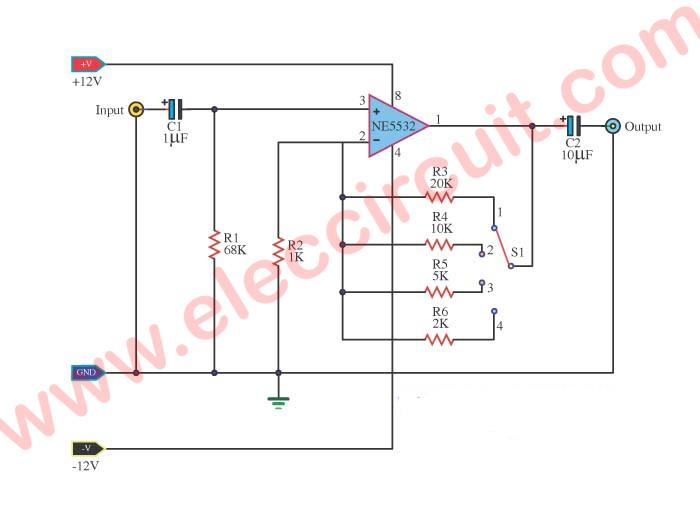 Fabulous Universal Preamplifiers Using Ne5532 741 Lm382 Eleccircuit Com Wiring Cloud Lukepaidewilluminateatxorg
