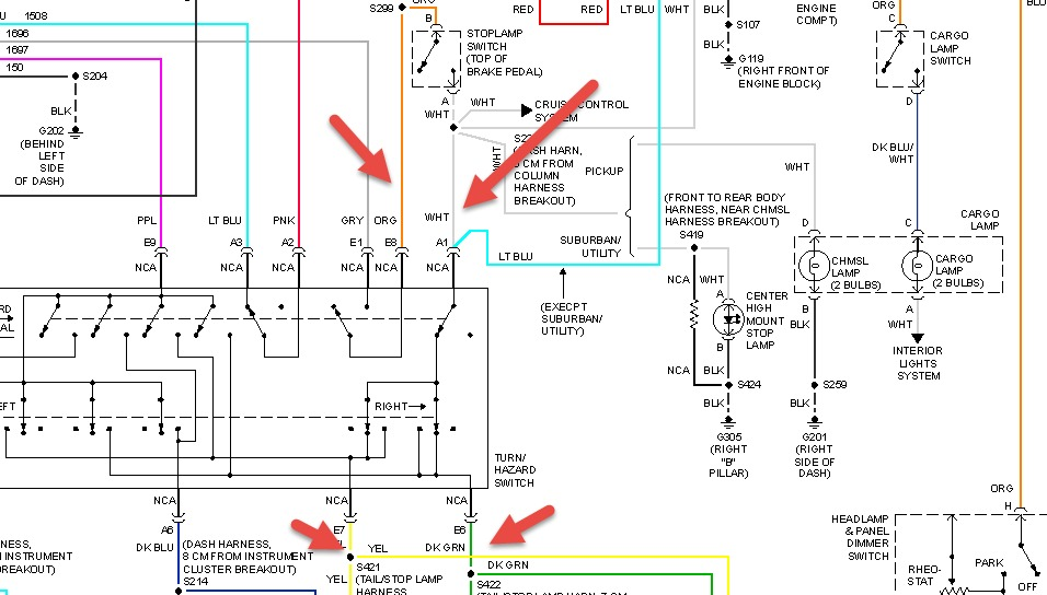 th7773 chevy suburban tail light wiring diagram download