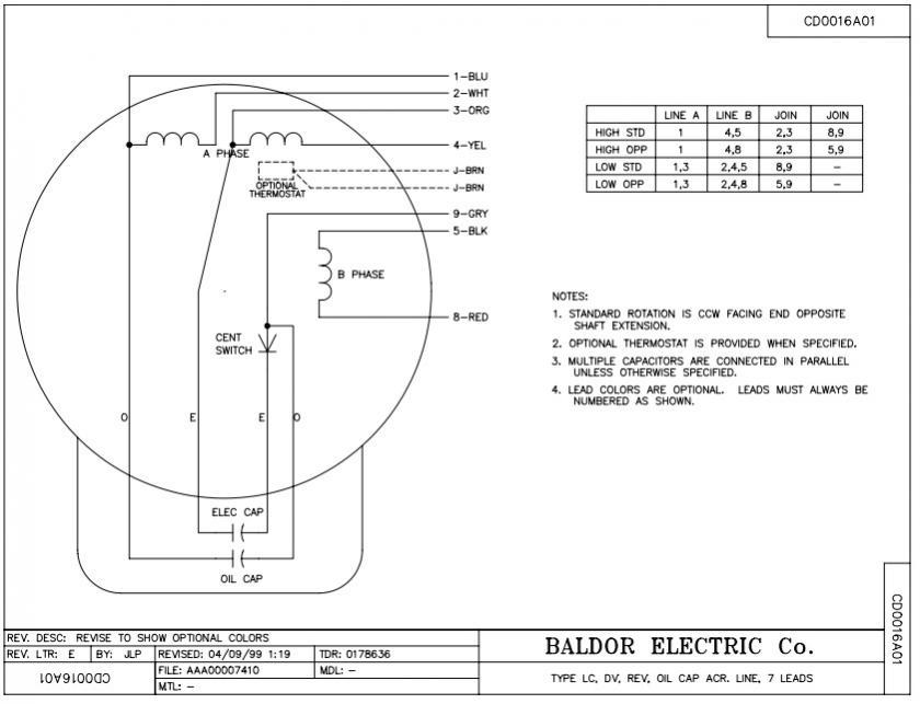 baldor industrial motor wiring diagram  wiring diagram for
