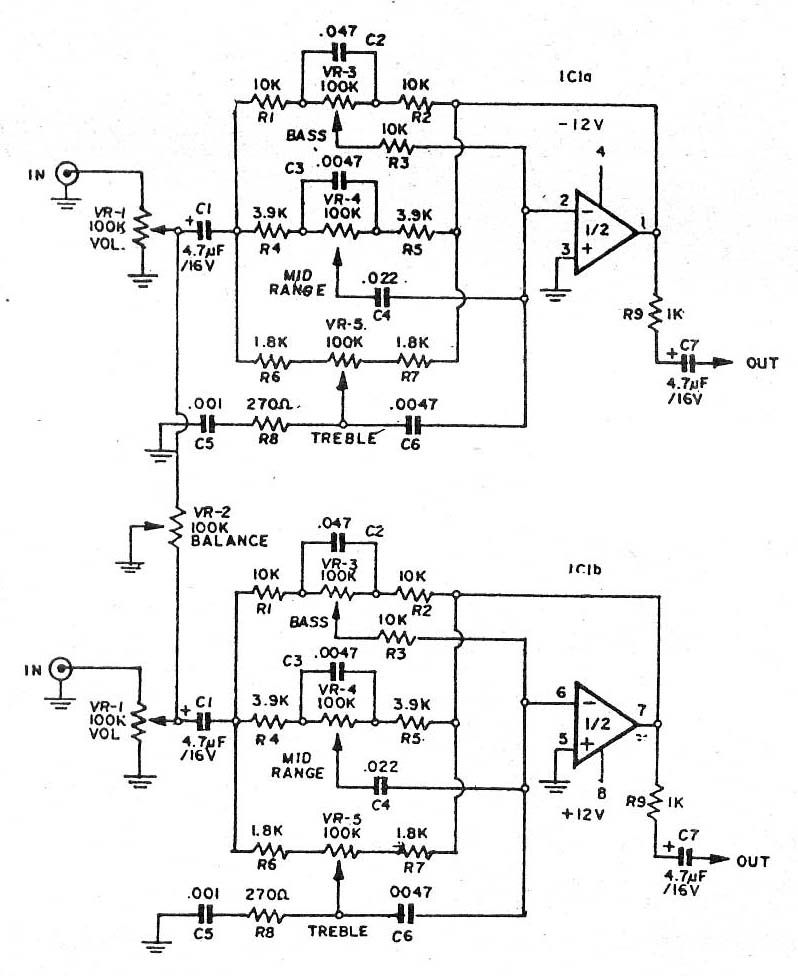 Magnificent 3 Bass Mid Treble Tone Control Circuits Projects Using Ne5532 Wiring Cloud Monangrecoveryedborg