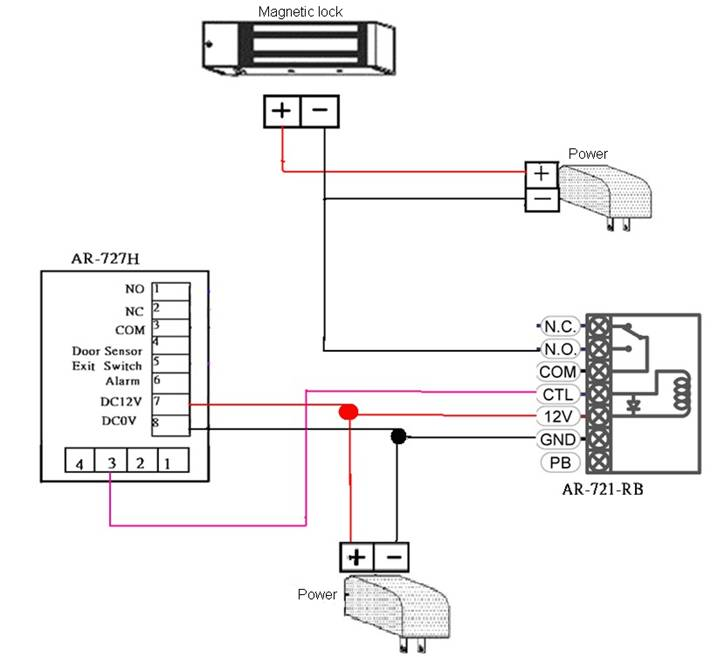 Door Maglock Wiring Diagram