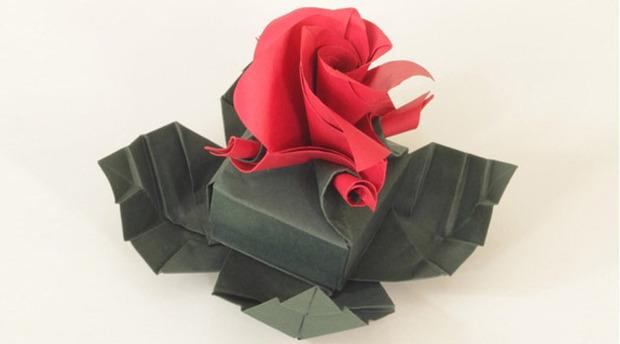 Origami Rose Box – Origami Tutorials | 344x620